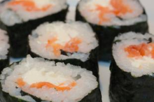 sushi affumicato salmone