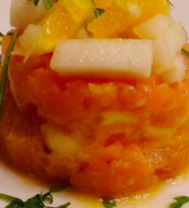 tartare salmone arancia
