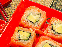 sushi branzino arancia