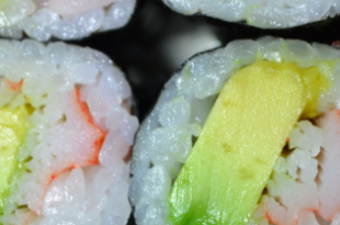 sushi avocado granchio