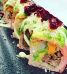 sushi ricciola menta avocado