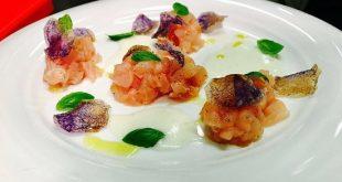Sushi fragola, burrata e ricciola