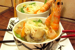 zuppa scampi giapponesi